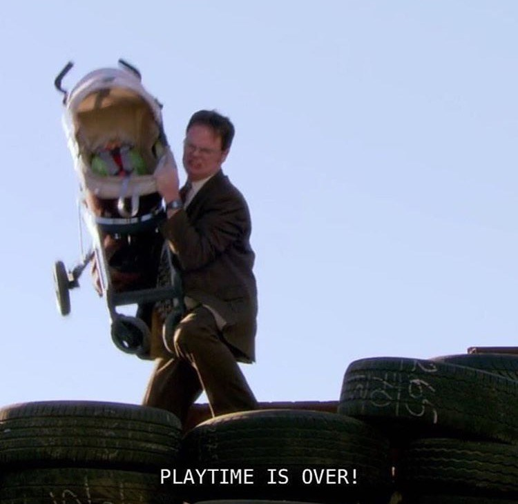 dwight playtime is over the office memes