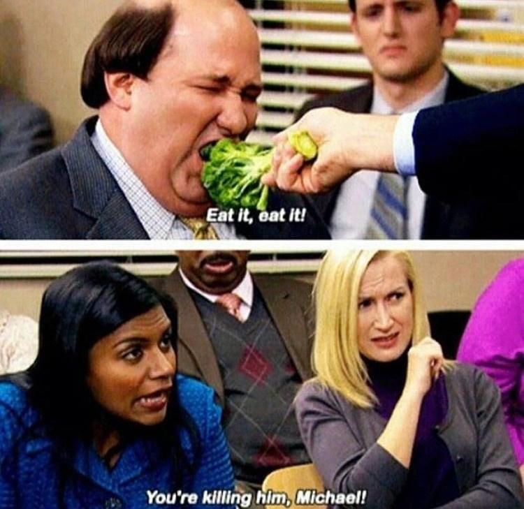 kevin eating lettuce the office memes