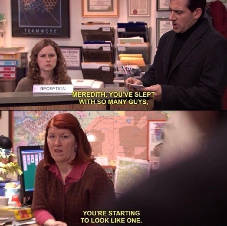 meredith slept with so many guys the office memes