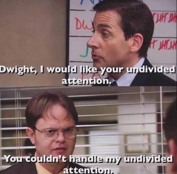 dwight undivided attention the office memes