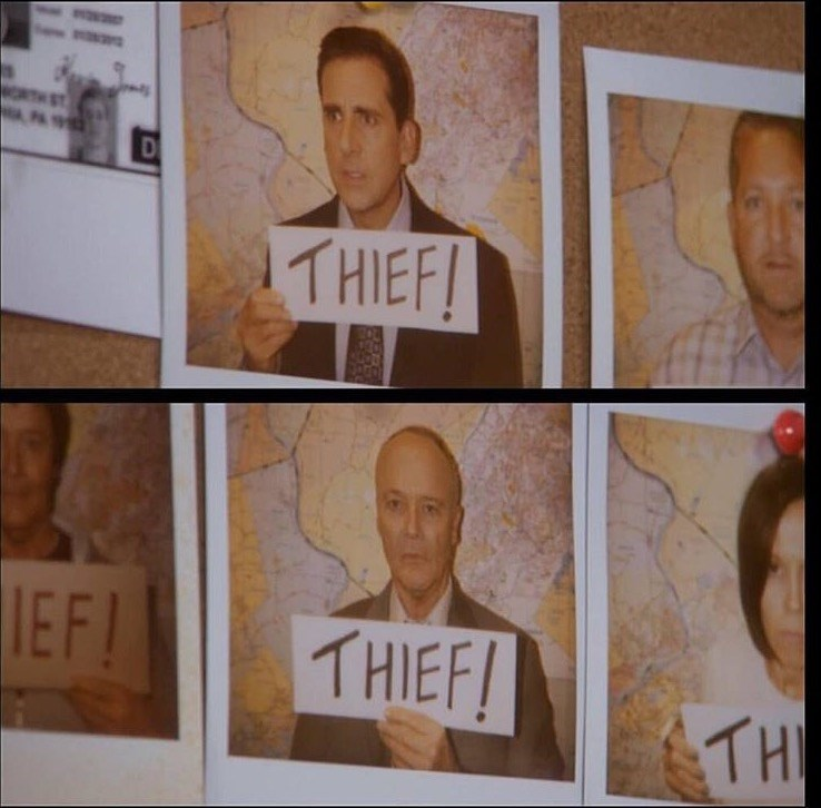 michael creed thief picture the office memes