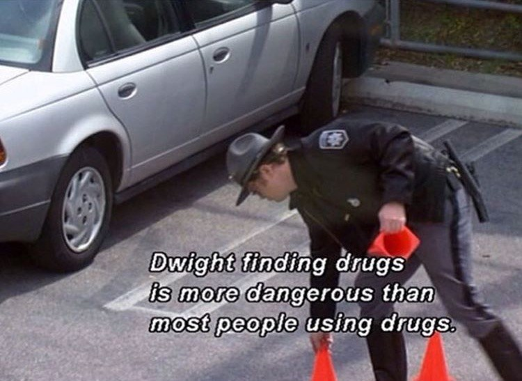 dwight finding drugs the office memes