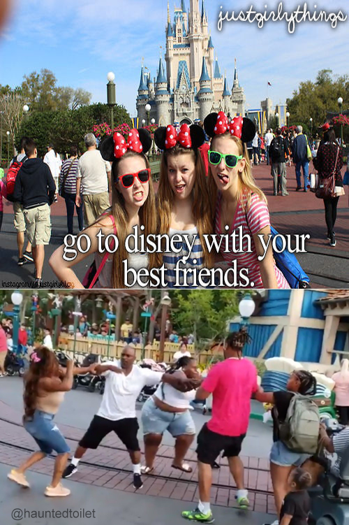 disneyland family fight - People - gustriolythinge go to disney with your best triends instagrony ustgirublo9 AD @hauntedtoilet