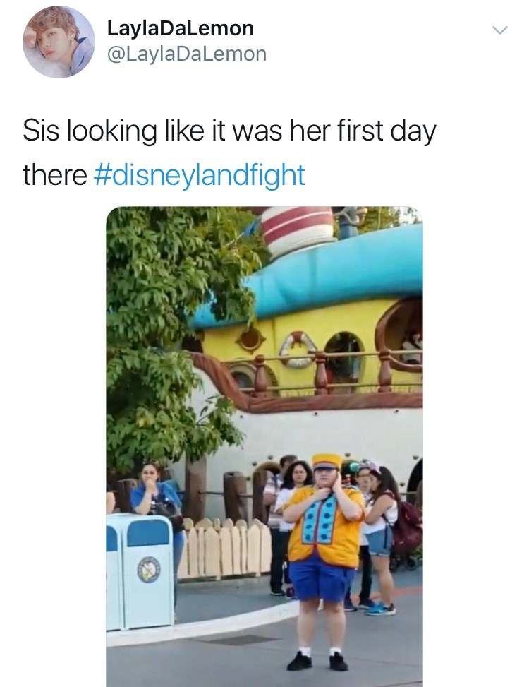 disneyland family fight - Transport - LaylaDaLemon @LaylaDaLemon Sis looking like it was her first day there #disneylandfight