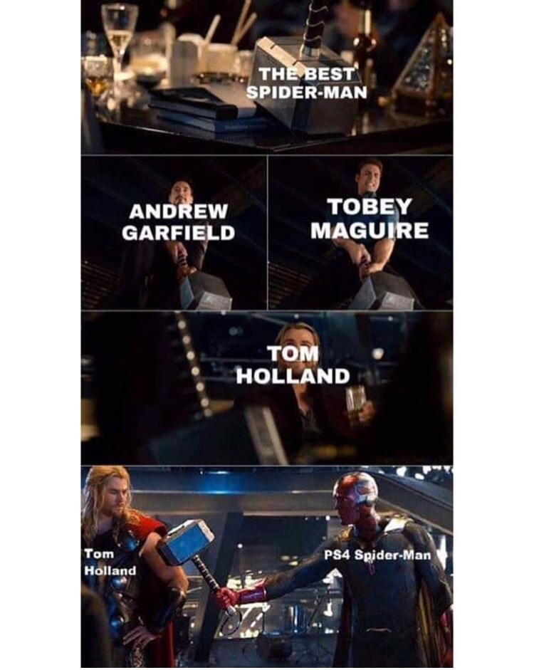 marvel meme - Product - THE BEST SPIDER-MAN TOBEY ANDREW MAGUIRE GARFIELD том HOLLAND Tom Holland PS4 Spider-Man
