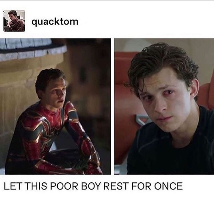 marvel meme - Fictional character - quacktom LET THIS POOR BOY REST FOR ONCE