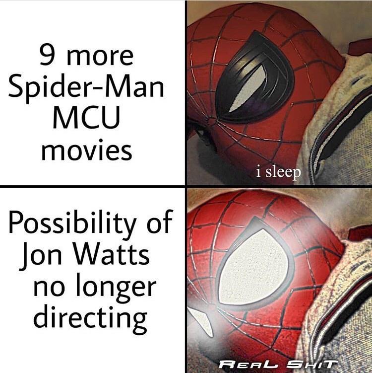 marvel meme - Helmet - 9 more Spider-Man MCU movies i sleep Possibility of Jon Watts no longer directing REAL SHIT