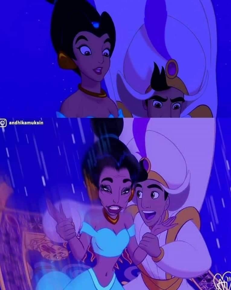 Illustration - Aladdin and Jasmine