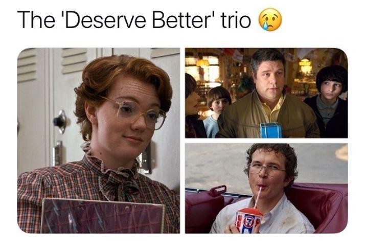 stranger things meme - Human - The 'Deserve Better' trio aar
