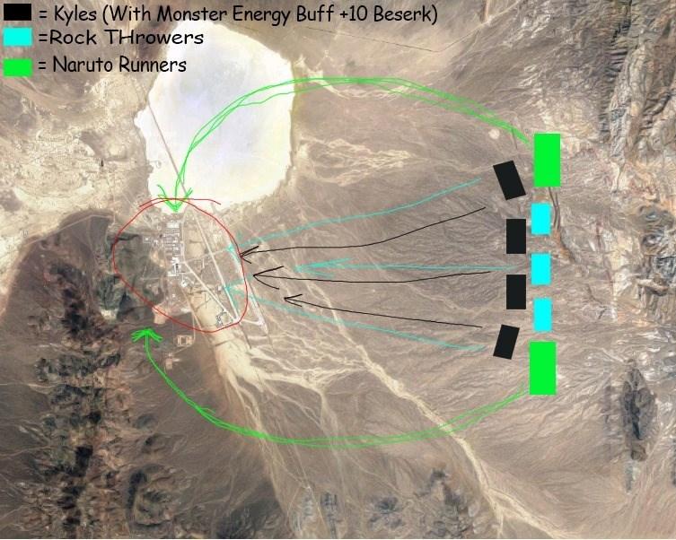 storm area 51 meme - Line - Kyles (With Monster Energy Buff +10 Beserk) =Rock THrowers =Naruto Runners