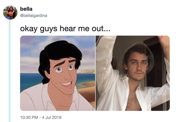 little mermaid cast - Face - bella @bellalgardina okay guys hear me out... 10:30 PM - 4 Jul 2019