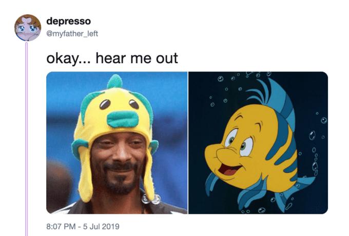 little mermaid cast - Cartoon - depresso @myfather_left okay... hear me out 8:07 PM -5 Jul 2019