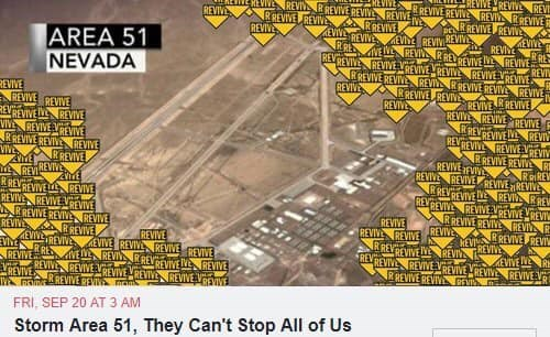 """Map of Area 51 with icons that read """"Revive"""" everywhere"""