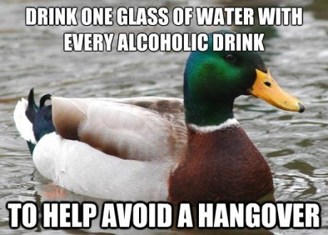 advice mallard - Bird - DRINK ONE GLASS OF WATER WITH EVERY ALCOHOLICDRINK TO HELPAVOID A HANGOVER