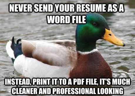 advice mallard - Bird - NEVERSEND YOURRESUME ASA WORDFILE INSTEAD PRINTUTTOA PDF FILE, IT'S MUCH CLEANER AND PROFESSIONAL LOOKING