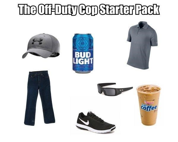 funny - Clothing - The Of-Duty Cop Starter Pack BUD LIGHT ETEED.LiscH offee