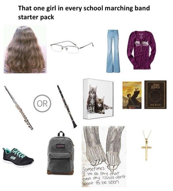 funny - Bag - That one girl in every school marching band starter pack ORD RINGS Ty Avel OR nowuNC Sometimes I 'm So Shy mat even my nnds dontt want to be seen