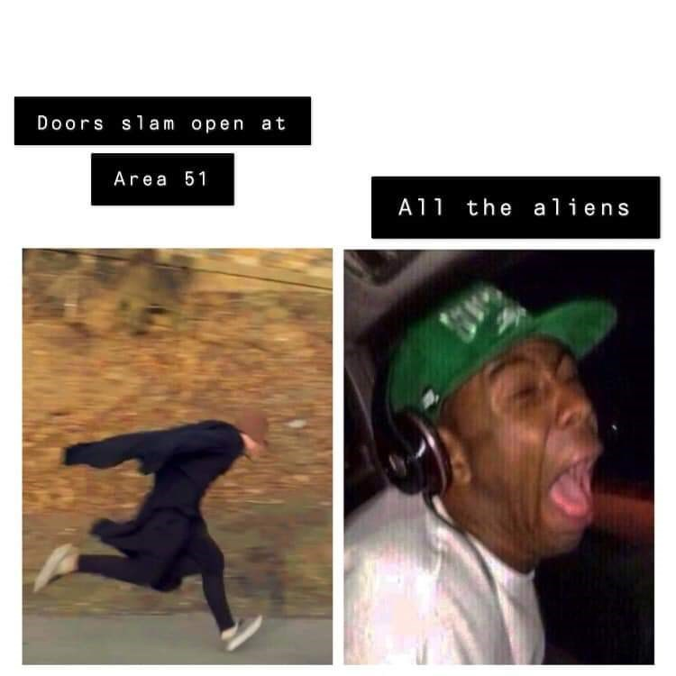 storm area 51 meme - Text - Doors slam open at Area 51 the aliens A11