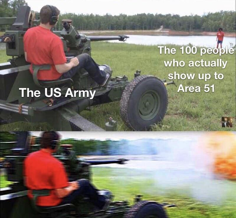 storm area 51 meme - Automotive tire - The 100 people who actually show up to Area 51 The US Army