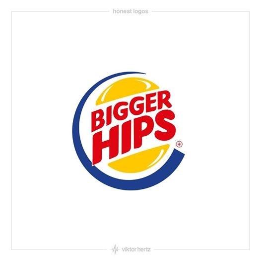 Logo - honest logos BIGGER HIPS viktor hertz