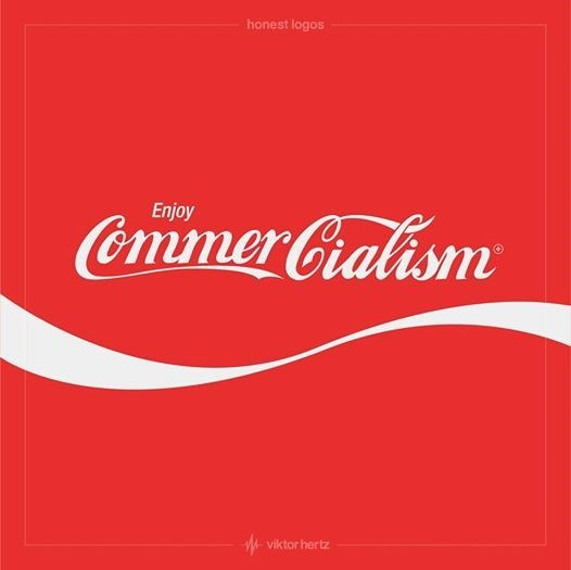 Red - honest logos Enjoy Commer Gialism viktor hertz
