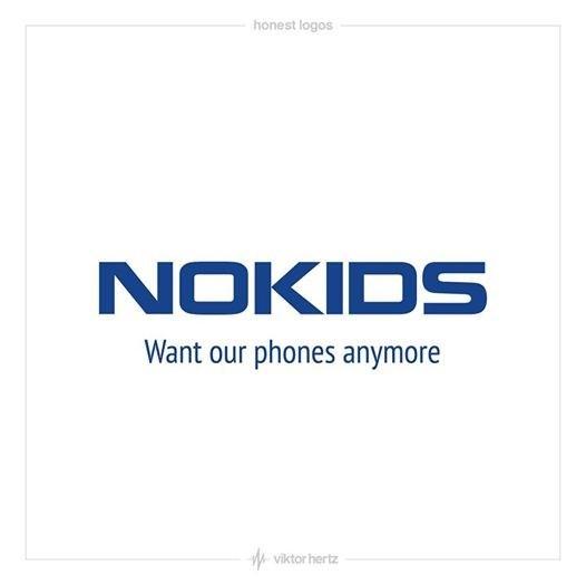 Text - honest logos NOKIDS Want our phones anymore viktor hertz