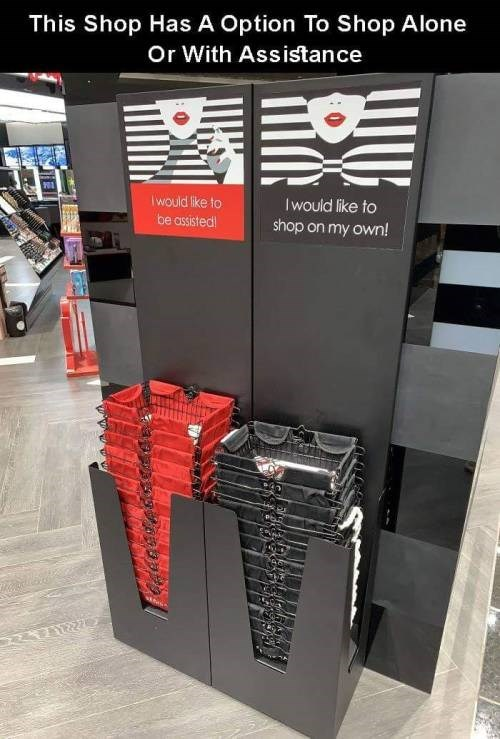 genius invention - Banner - This Shop Has A Option To Shop Alone Or With Assistance Iwould like to Iwould like to be assisted shop on my own!