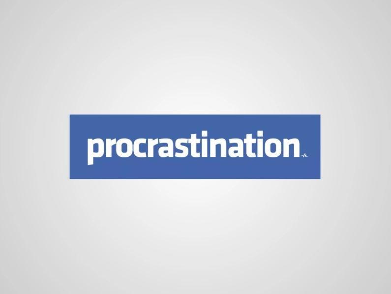 honest logo - Text - procrastination