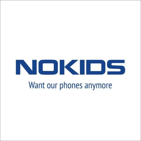honest logo - Text - NOKIDS Want our phones anymore