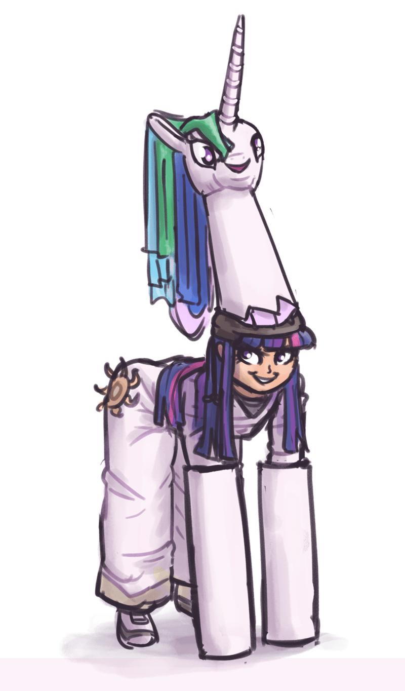equestria girls cosplay twilight sparkle ponify princess celestia king kakapo - 9331853568