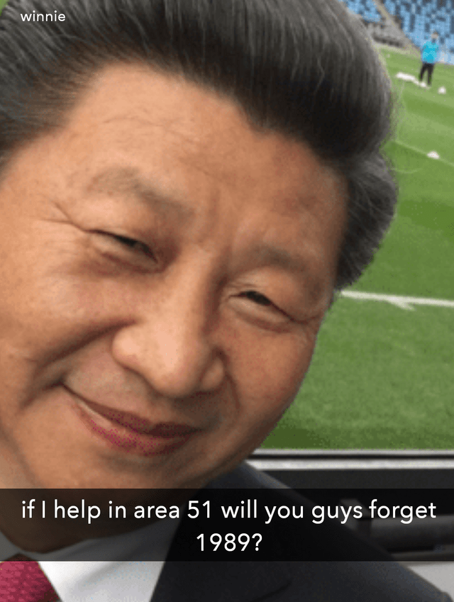meme - Face - winnie if I help in area 51 will you guys forget 1989?