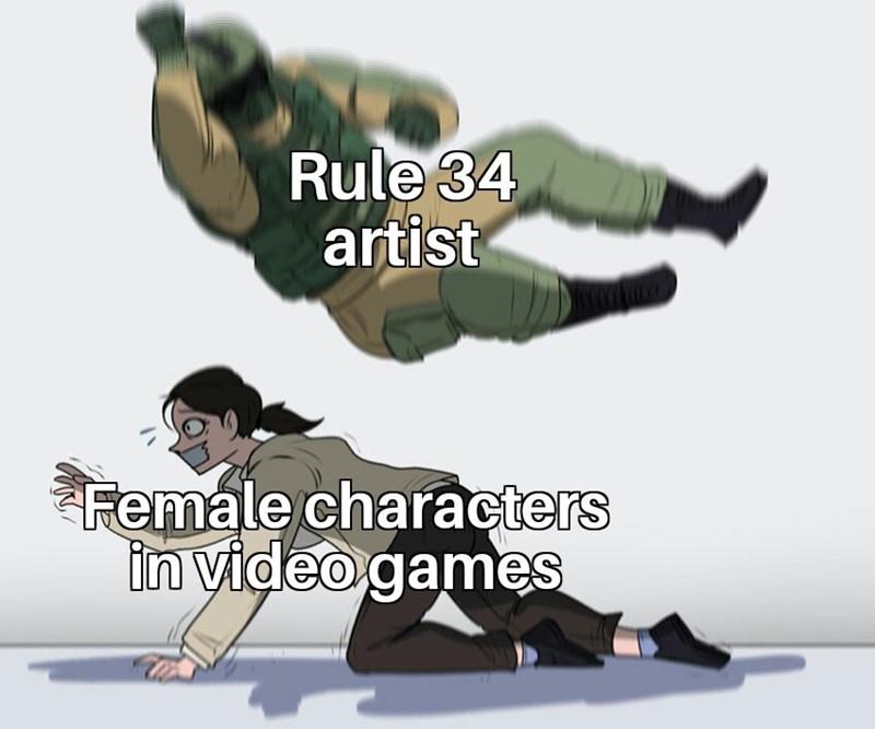 meme - Hip-hop dance - Rule 34 artist Female characters in video games