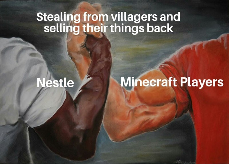 memes - Arm - Stealing from villagers and selling their things back Minecraft Players Nestle