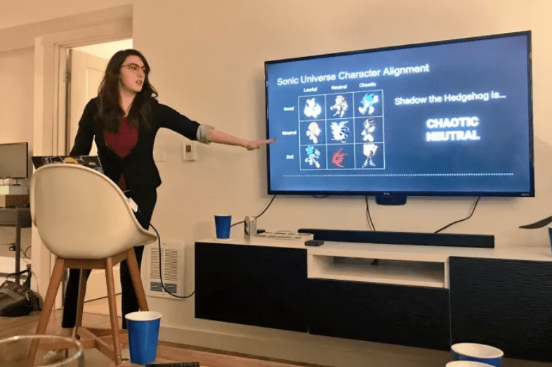 creative party - Presentation - Sonic Universe Character Alignment Ch l Shadow the Hedgehog is... God CHAOTIC NEUTRAL
