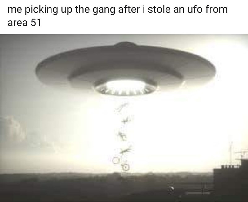 Lighting - me picking up the gang after i stole an ufo from area 51