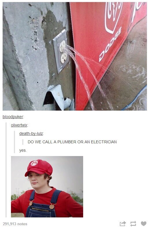 Concrete - bloodpuker olivertwix death-by-lulz DO WE CALLA PLUMBER OR AN ELECTRICIAN yes 291,913 notes