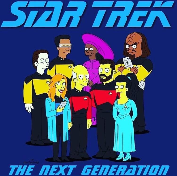 """Meme - """"STAR TREK by starfiectmigs THE NEXT GENERATION"""""""
