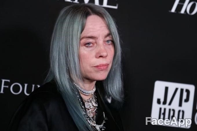 Photoshopped picture of Billie Eilish