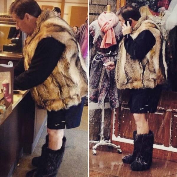 dad fashion - Fur