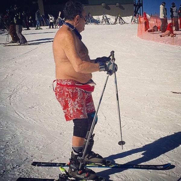 dad fashion - Skier