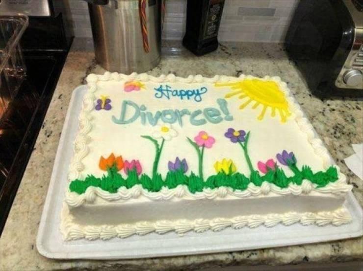 sad meme - Cake - Happy's Divorce!