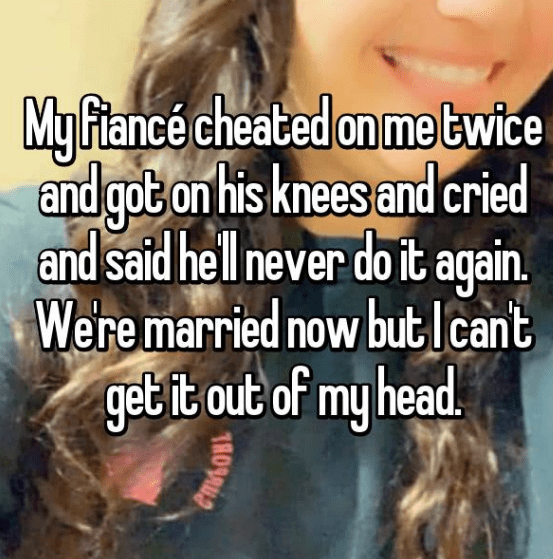 Hair - My Flance cheated on metwice and gob on his knees and cried and said hell never do it again Weremarried now butIcant get it out of my head 1809