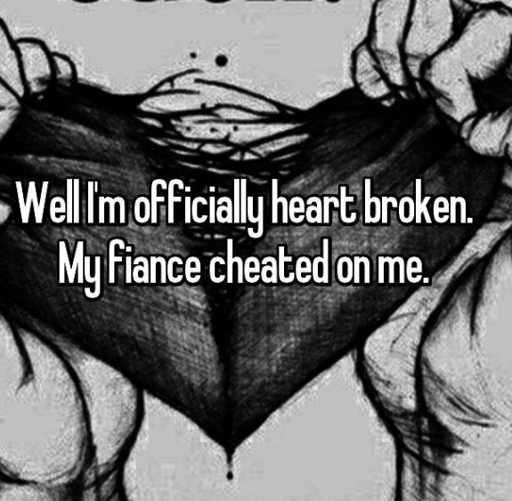 Cartoon - Well Im officially heartbroken My Fiance cheated on me