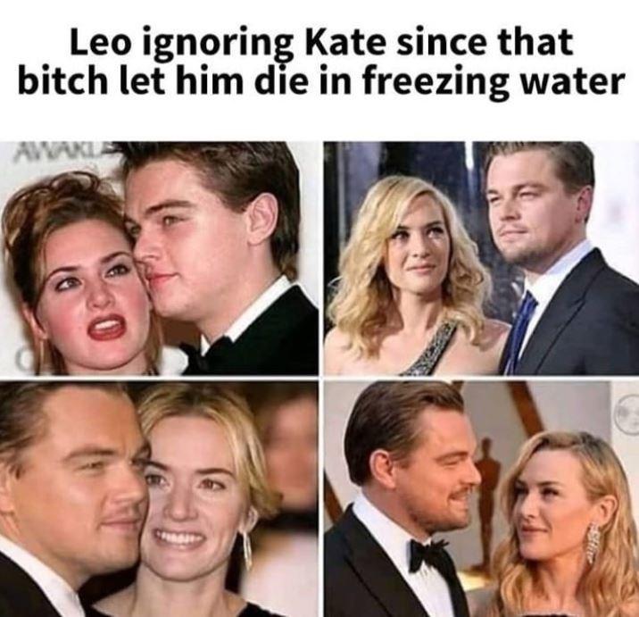 Face - Leo ignoring Kate since that bitch let him die in freezing water AWAKU US