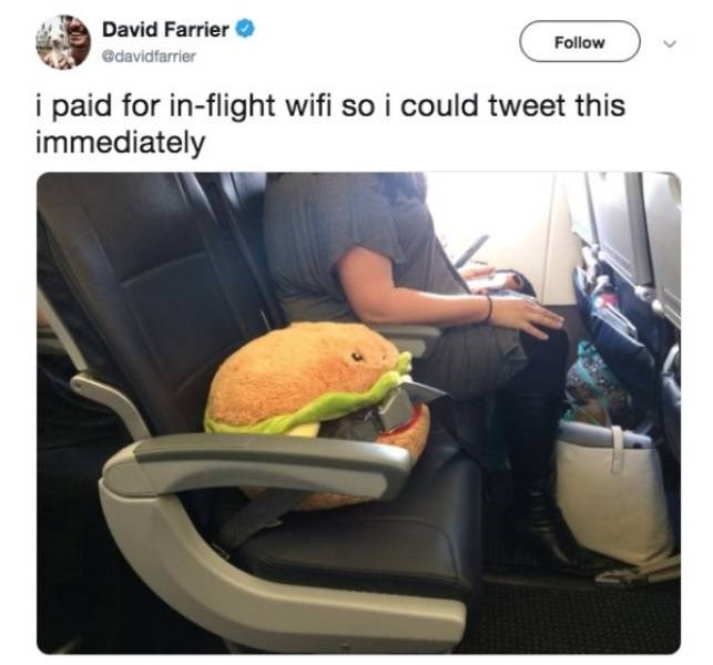Car seat - David Farrier Follow @davidfarrier i paid for in-flight wifi so i could tweet this immediately