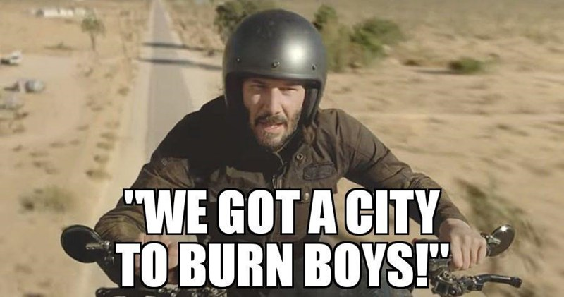 Helmet - WE GOT A CITY TO BURN BOYS!""