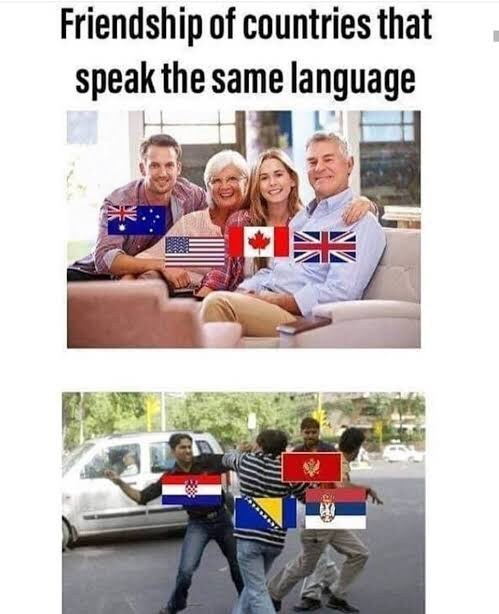 People - Friendship of countries that speak the same language