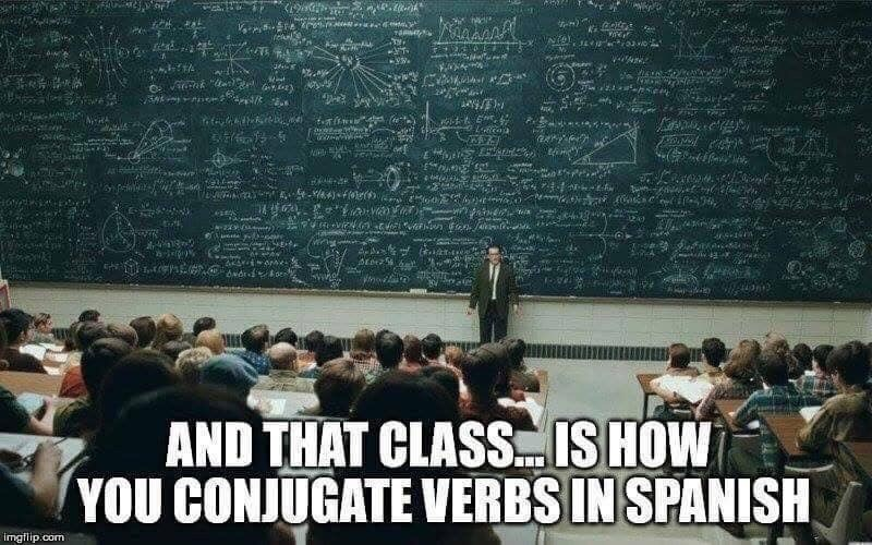 Audience - tr-n) NRA 2 AND THAT CLASSIS HOW YOU CONJUGATE VERBS IN SPANISH imgflip.com
