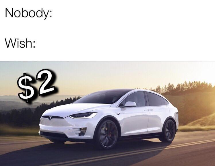 Land vehicle - Nobody: Wish: $2