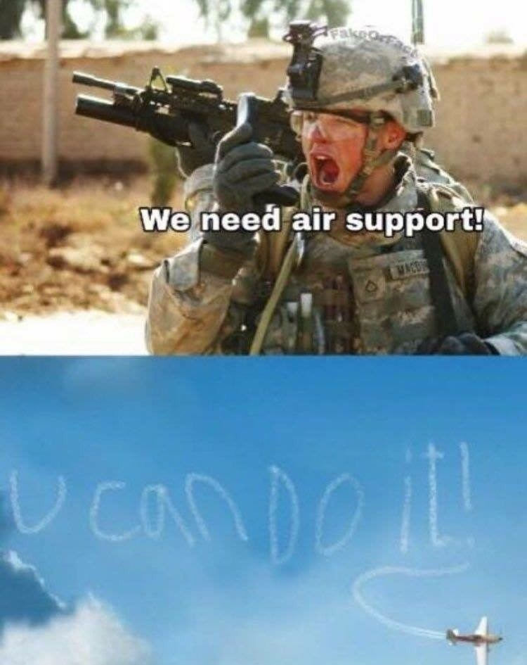 Soldier - fakeo We need air support! Candeil